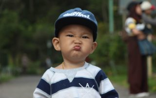 Kid with funny face