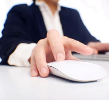 employee training - man clicking mouse