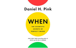The cover of Daniel Pink's book When