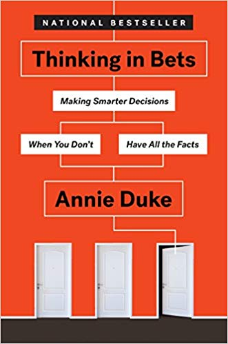 Top 5 Decision Making Books - Thinking in Bets book cover